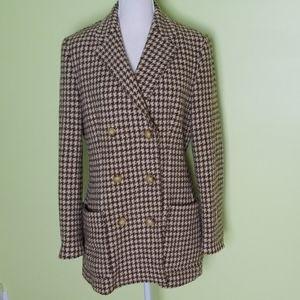 RALPH Ralph Lauren houndstooth wool blazer size 10